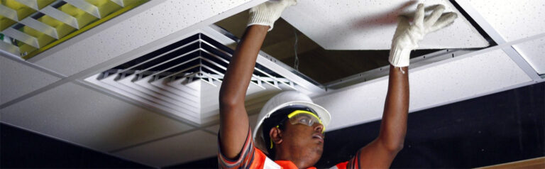 SUSPENDED CEILING INSTALLATION (ACOUSTICAL)
